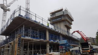 Tower construction progress