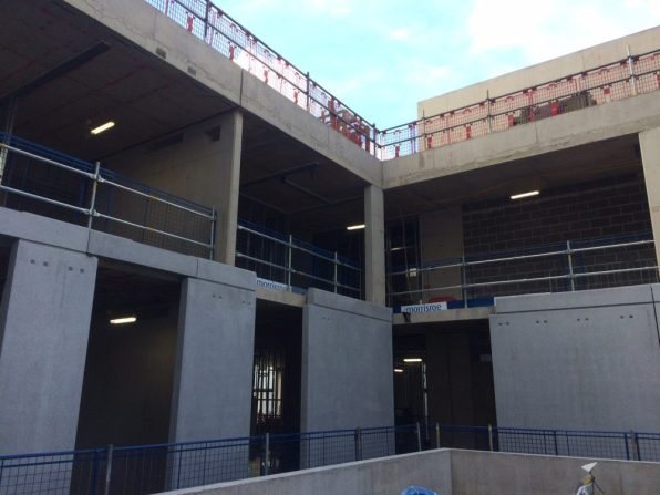 School cladding installation continues