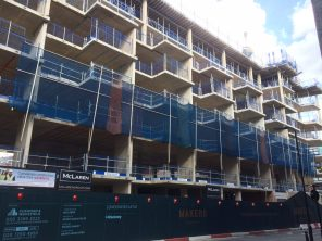 Nile Street block slabs completed