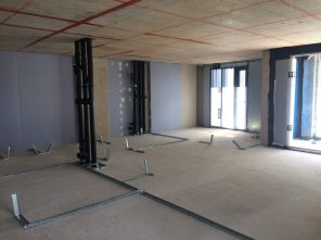 Tower apartment internal fit-out in progress
