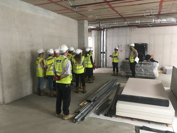 Site tour for the teachers at New Regent's College to have a look at the progress