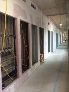 Nile Street Block internal wall construction