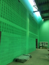 School Sports Hall painting underway