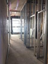 Block apartment wall construction in progress